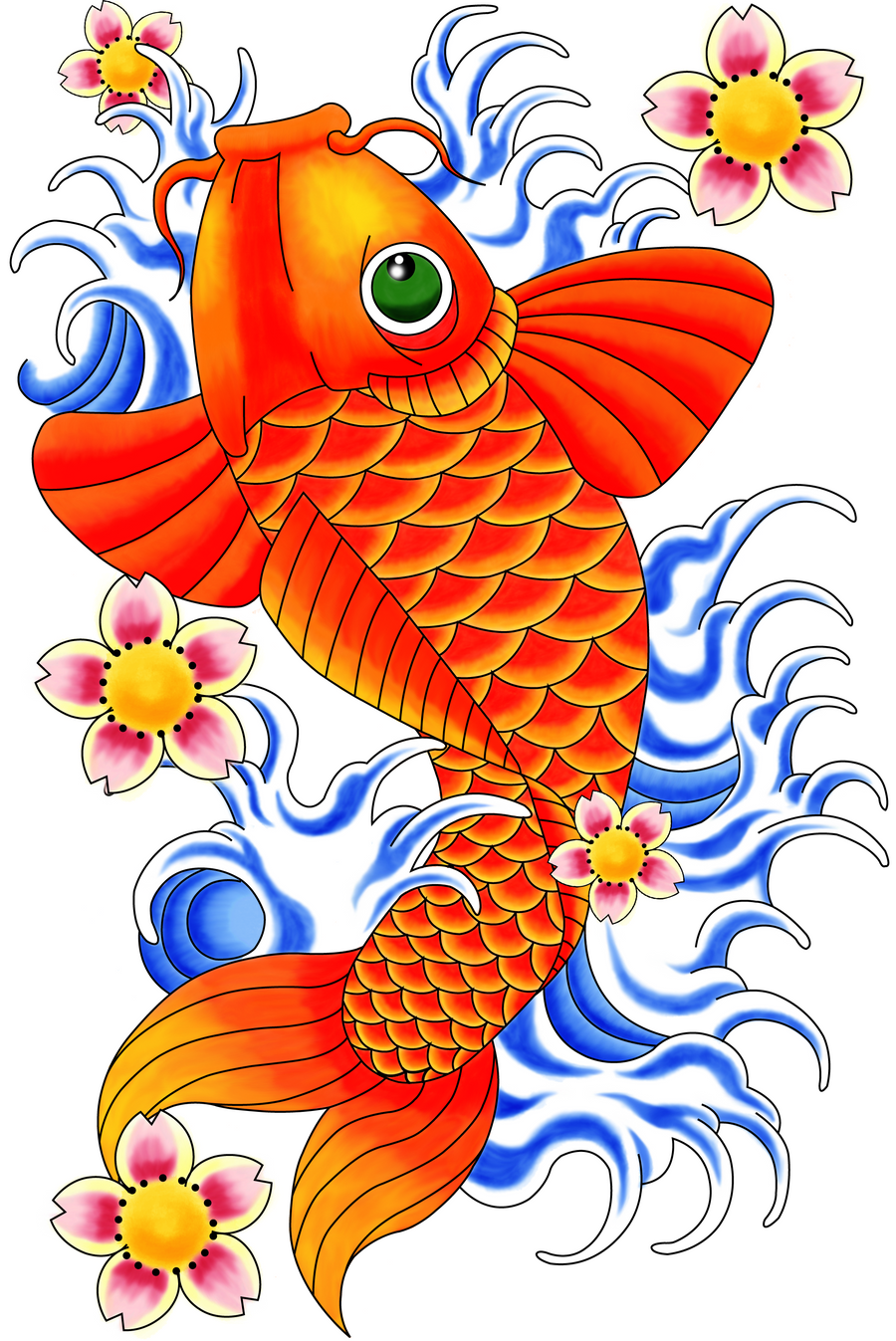 Koi Fish design by peanutbuttermadness on DeviantArt