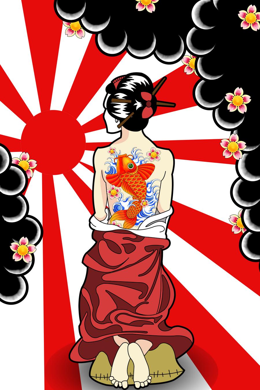 Geisha tattoo by