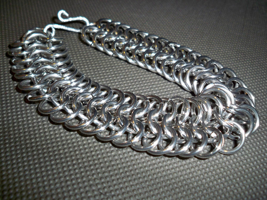 Copper chainmail bracelet in European 6 in 1