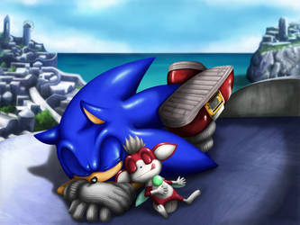 Sonic and chip by shoppaaaa