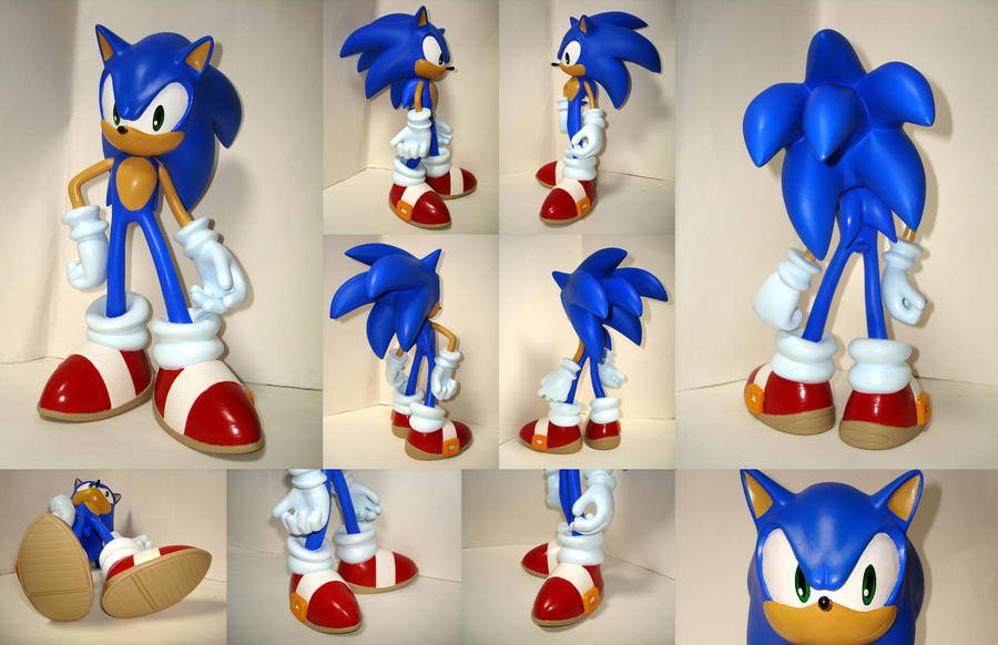 sonic figure by shoppaaaa