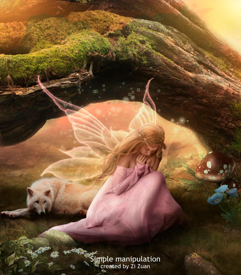 Simple fairy by zizuan on deviantart for Fairy painting easy