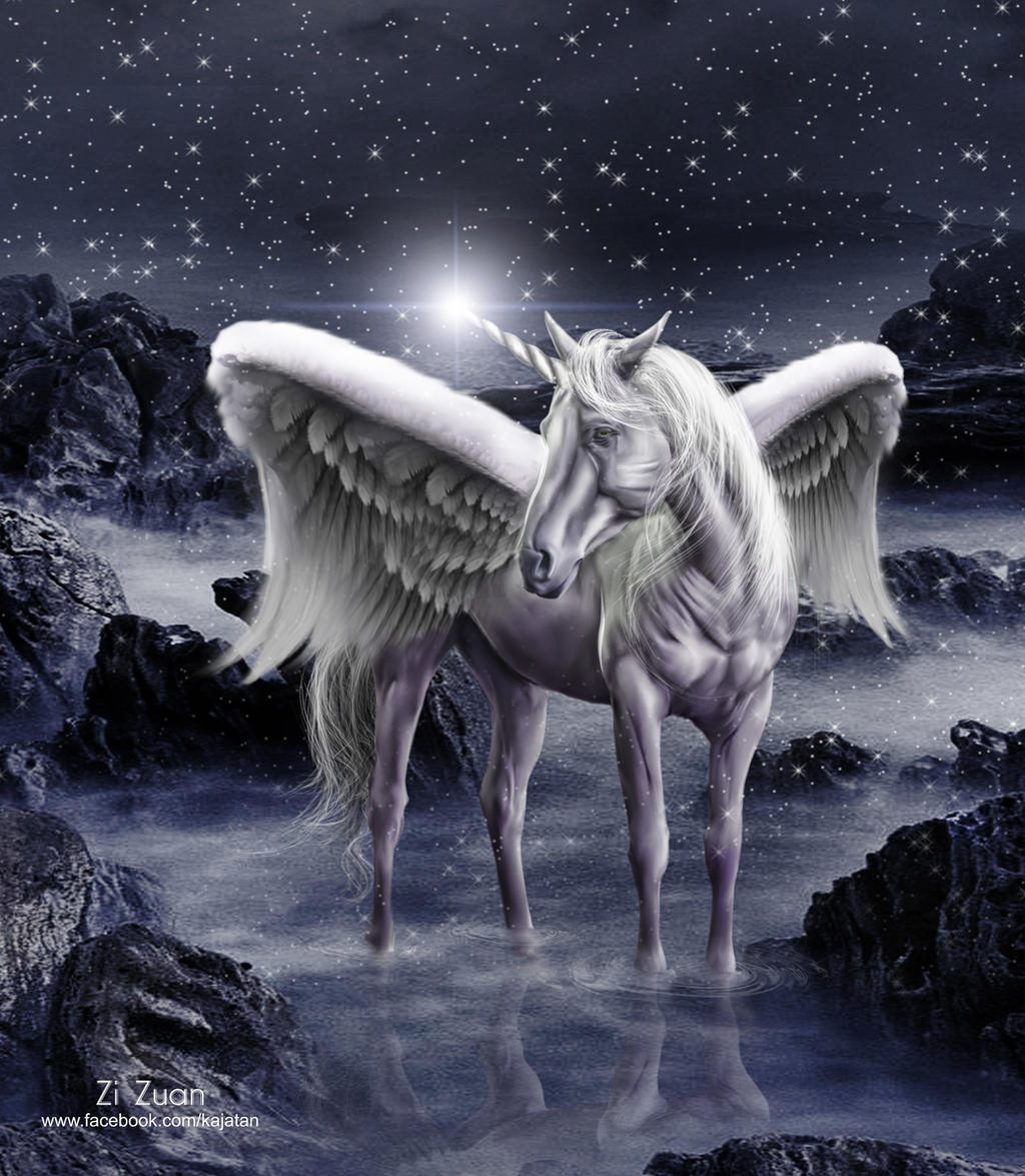unicorn pegasus by zizuan on deviantart