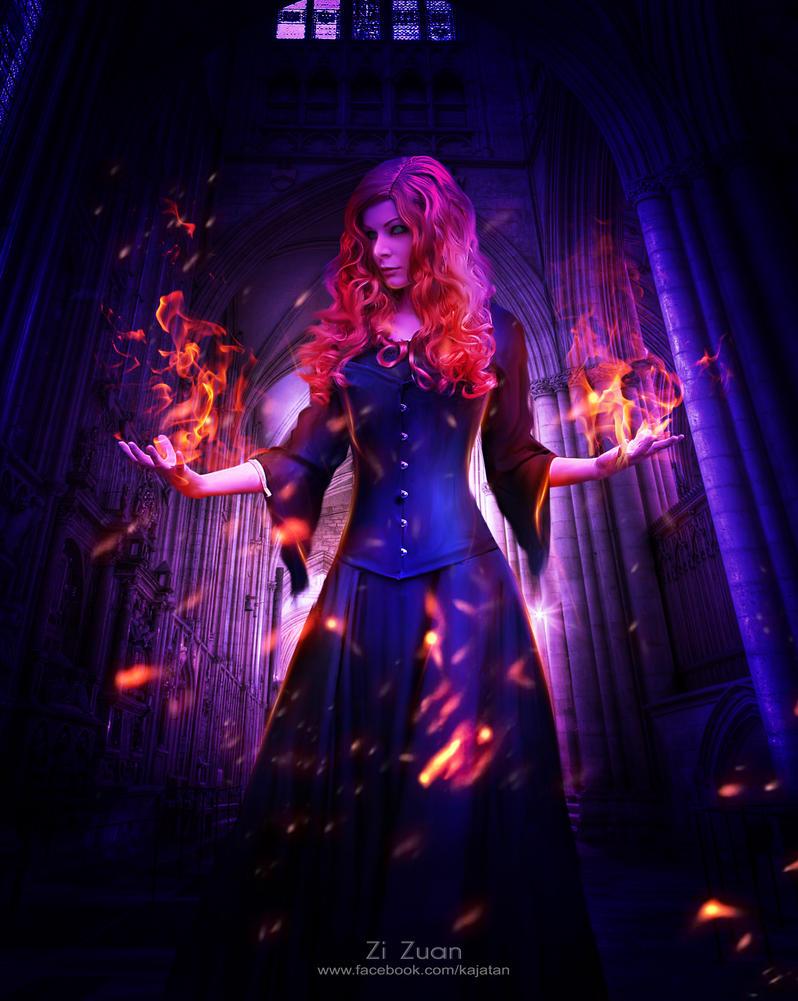 Fire witch by zizuan