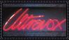 Ultravox neon logo stamp by stampitystampstamp