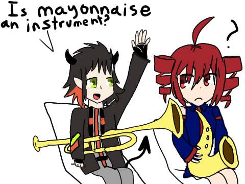 Is mayonnaise an instrument? (Gift)
