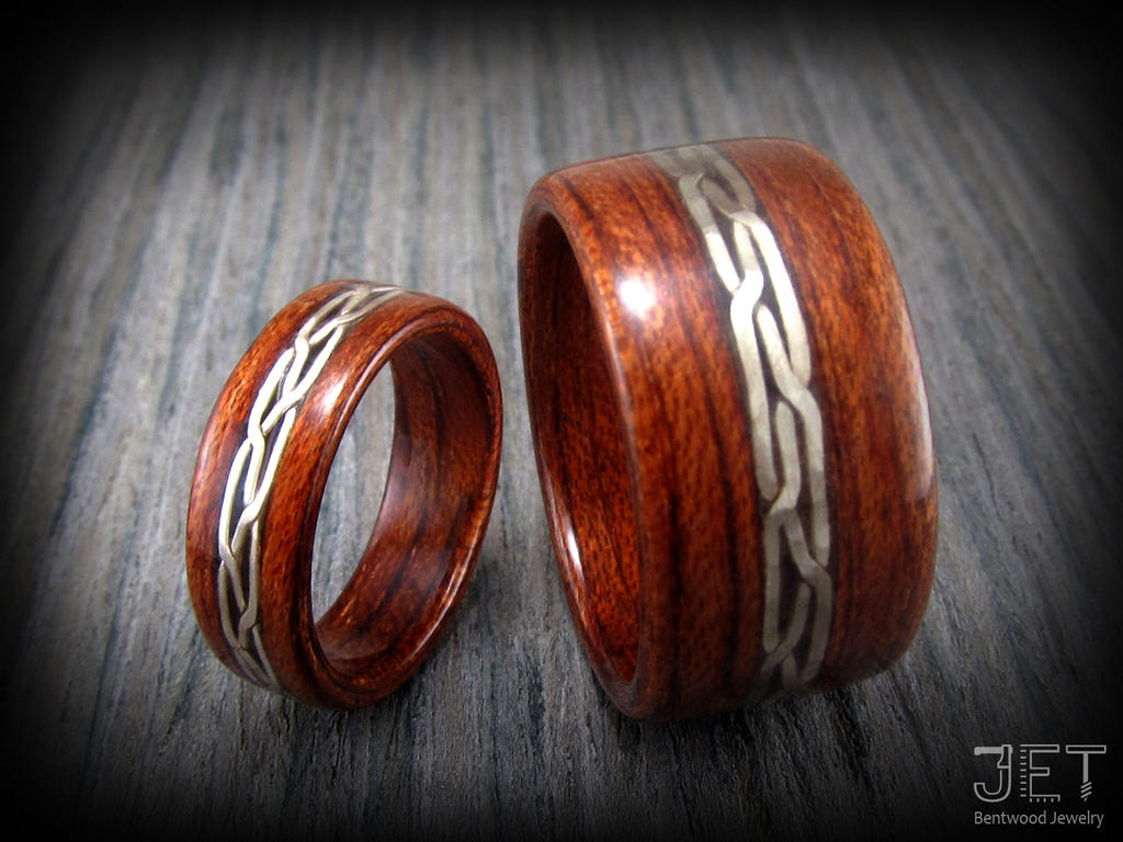 Bolivian Rosewood with German Silver Wire Inlay by ...
