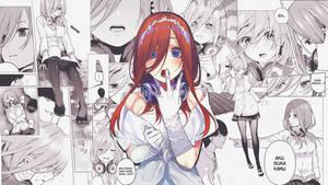 Nakano Miku Comic Wallpaper