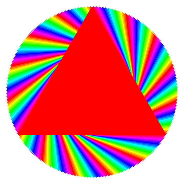 Rainbow Circle Png Red Triangle Rainbow Circle by