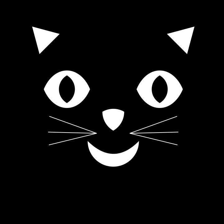Image Gallery happy cartoon cat faces