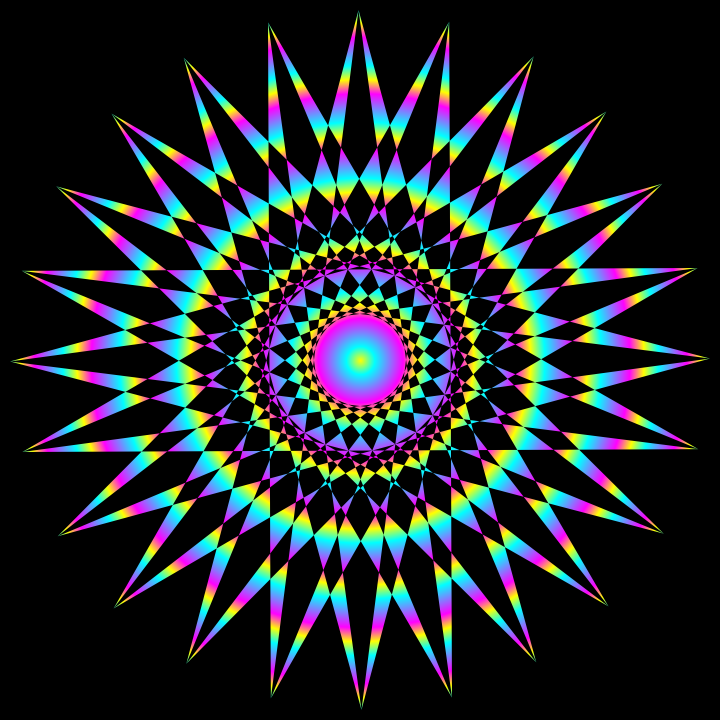 Radial Design Art : Star ycm radial gradient by binary on deviantart