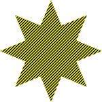 yellow black stripe 8/3 octogram by 10binary