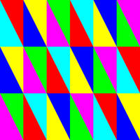 6 colors of irregular triangles by 10binary
