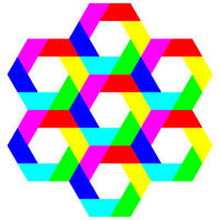 July 21 2012 colorful hexagons by 10binary