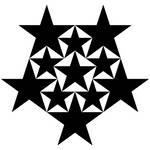 11 black stars