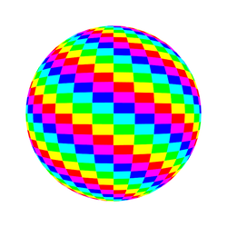Blender Checkersphere 6 Color by 10binary