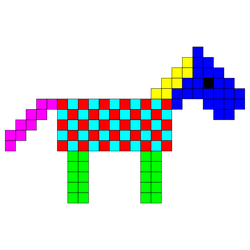Square Horse by 10binary
