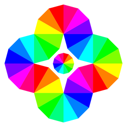 Twisted 12 Color Wheel Eye by 10binary
