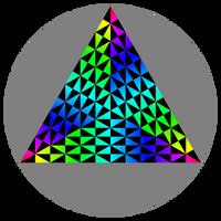 Puzzle Trigon Remix Rainbow