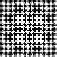 Gingham Check Black and White