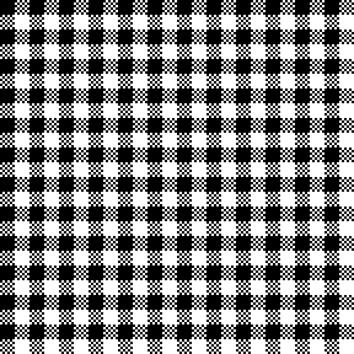 Gingham Check Black and White by 10binary