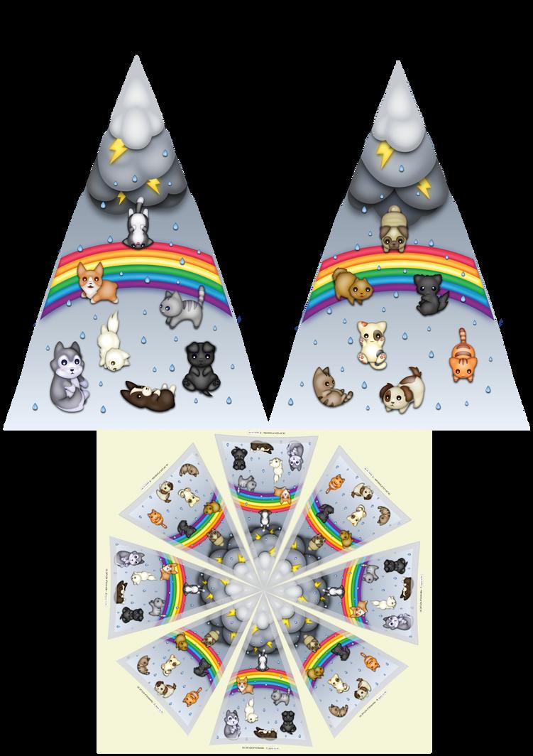 Cats And Dogs Bubble Umbrella