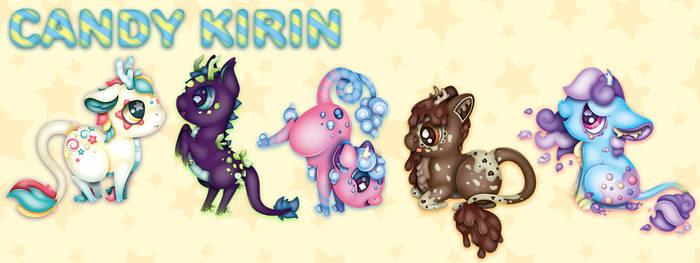 Candy Kirin Character Designs