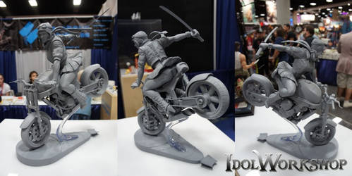 Bombshell: Bike Chick Triptych by poboyross