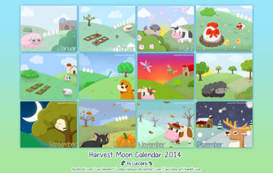 Harvest Moon Calendar