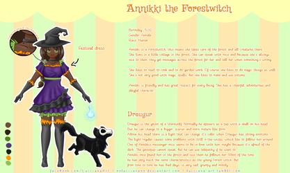 Charactersheet Annikki and Draugur