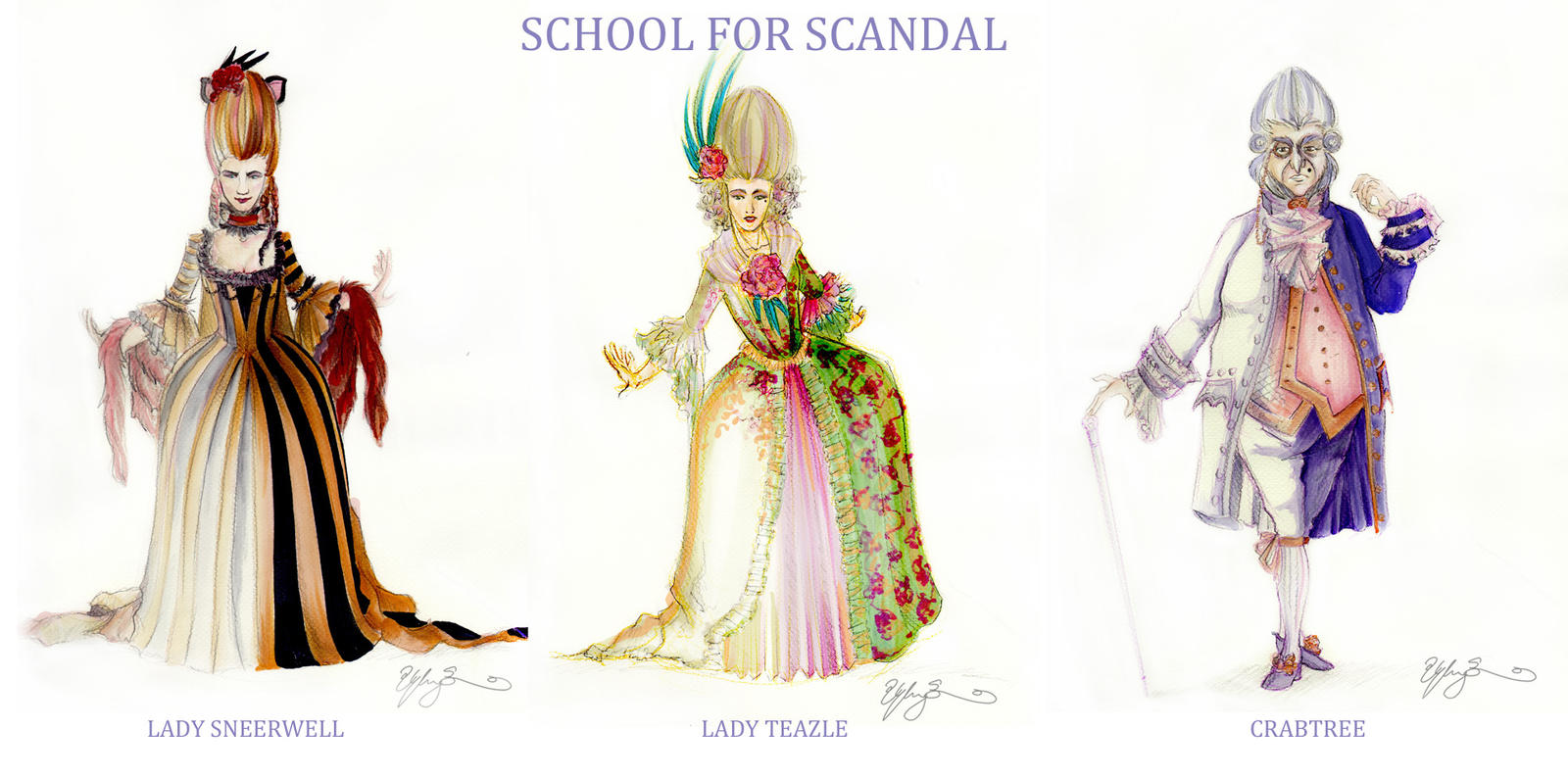 LINE UP: School for Scandal by TheGoldenGizmet