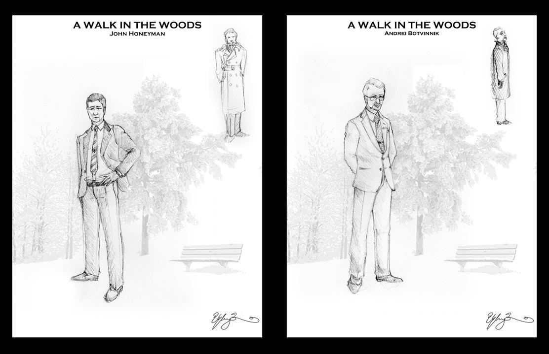 LINE UP: A Walk in the Woods by GwynConawayArt
