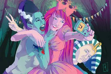 Night of the Living Selfie by GwynConawayArt