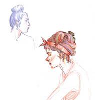 Lady Sketches by GwynConawayArt