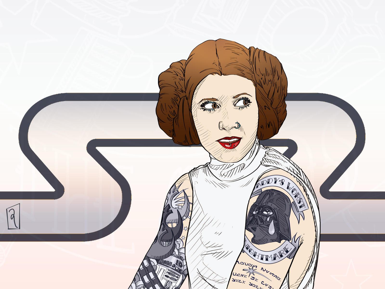 Rebels Princess Leia By Gwynconawayart On Deviantart