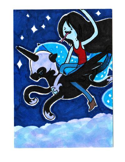 Nightmare Moon Marceline Card by MMMenagerie