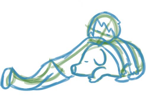Catching Some Zs Sketch by PrincessJuneWeather on deviantART