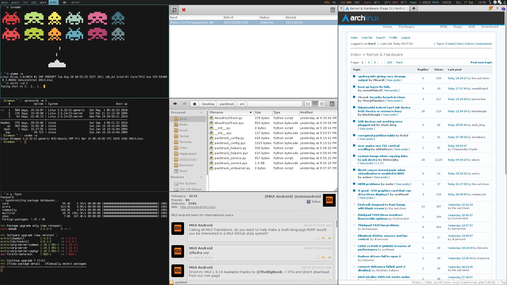 My Desktop - September 2011 by hundone