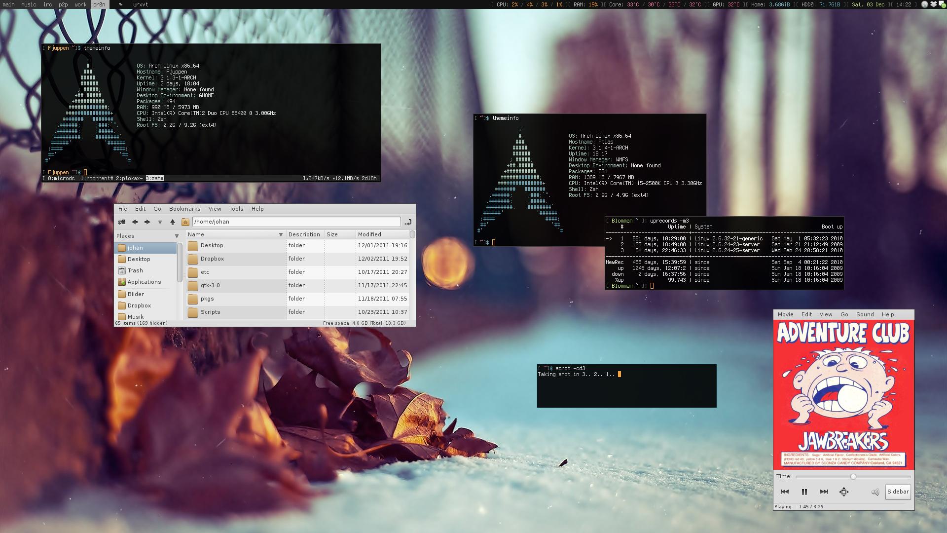 My Desktop - December 2011 by hundone