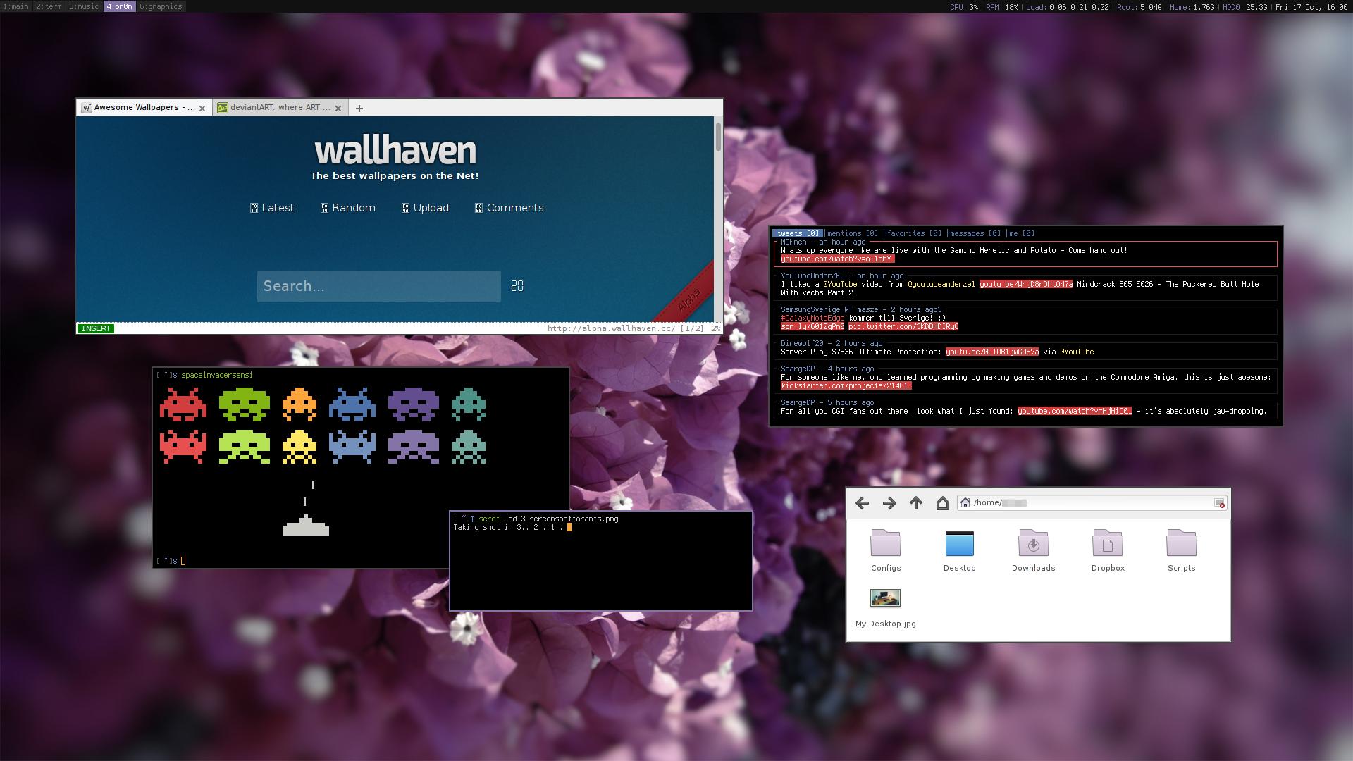 My Desktop - II - Manjaro   October 2014