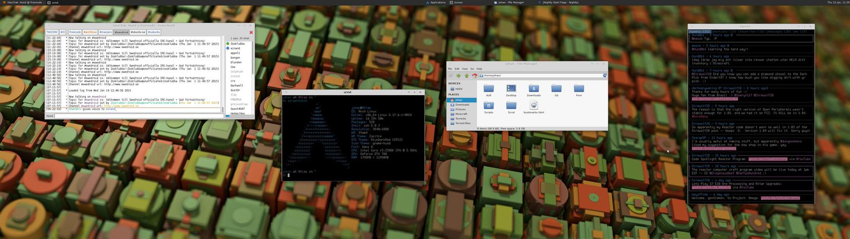 My Desktop - Arch Linux w/ Xfce | January 2015 by hundone