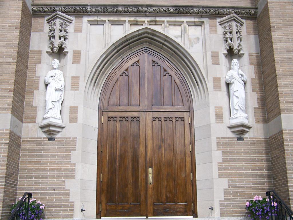 Big church door stock by wkj stock on deviantart for Big entry doors