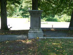 old stone pedestal stock