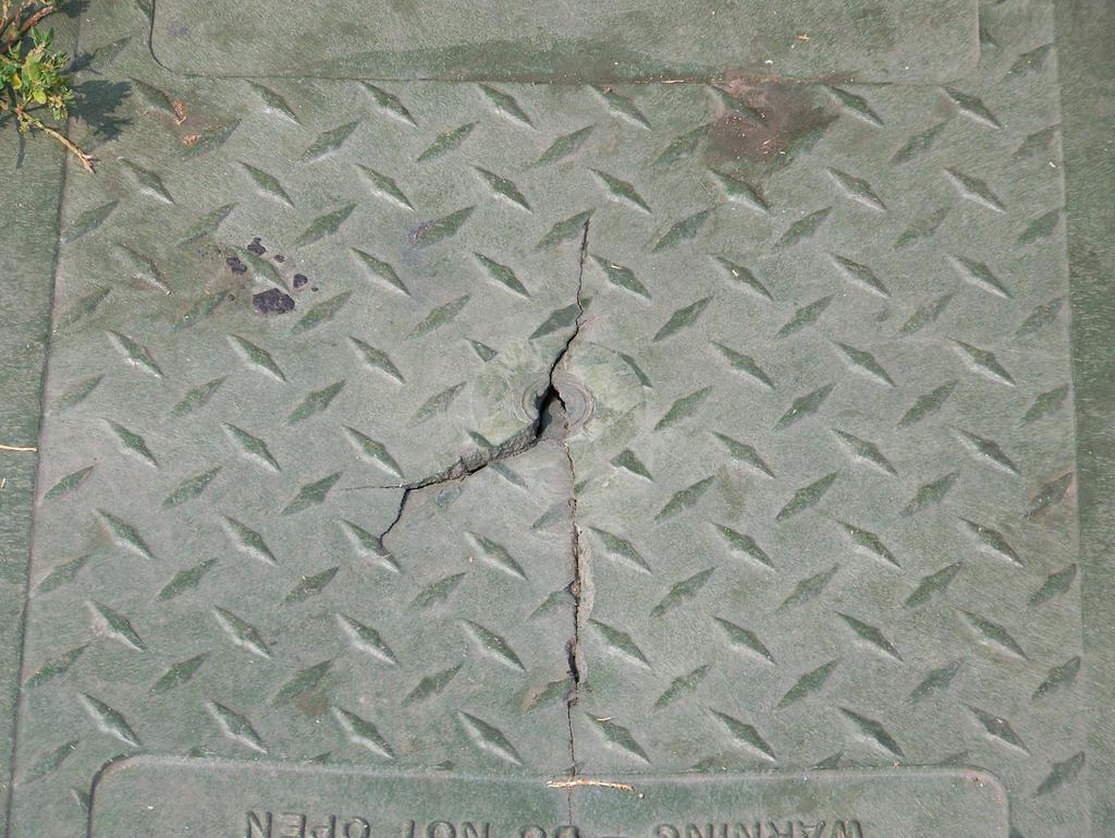 Cracked Diamond Plate Texture by WKJ-Stock