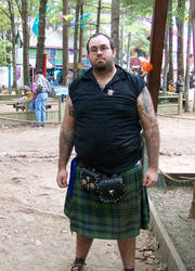 Man With Kilt Stock 2