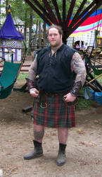 Big Man With Kilt 2 Stock