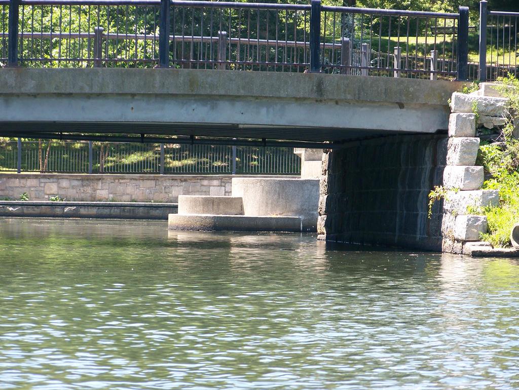 bridge and water stock