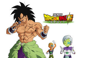 Broly, Cheelai and Lemo fanart - Dragon Ball Super by Blazhxxx