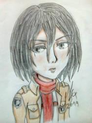 Mikasa Ackerman (Attack on Titan) by LexMontyPython