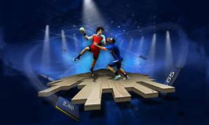 sport illustration handball